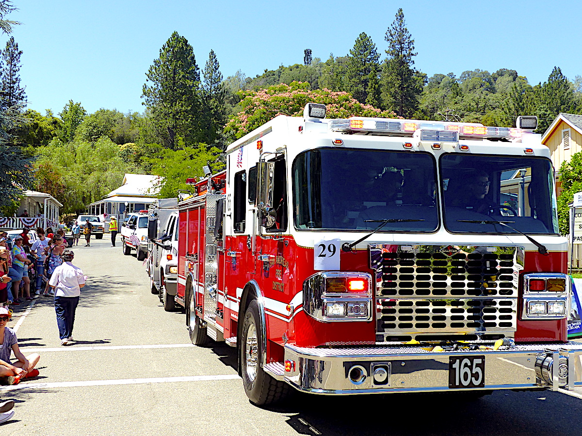 San Andreas Fire Protection District sent two engines and a utility vehicle to the 2019 Independence Day Parade in Mokelumne Hill.