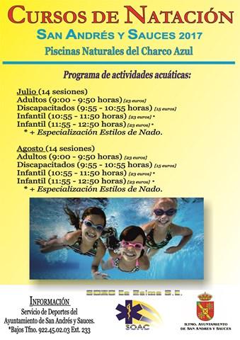 2017 Cursos de natación San Andrés y Sauces