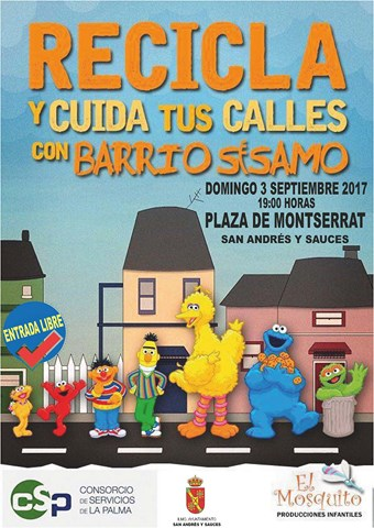 CARTEL RECICLA BARRIO SESAMO
