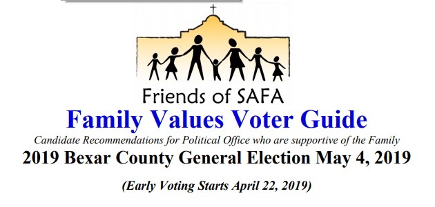 Family Values Voter Guide Bexar County General Election