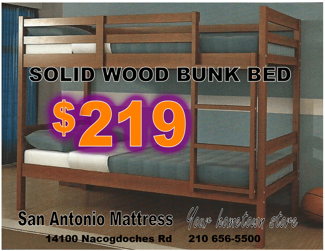The 2004 Lite Espresso bunk bed is made from solid pine. It has an  attached. Bunk Beds San Antonio ... - Bunk Beds San Antonio Rickevans Homes