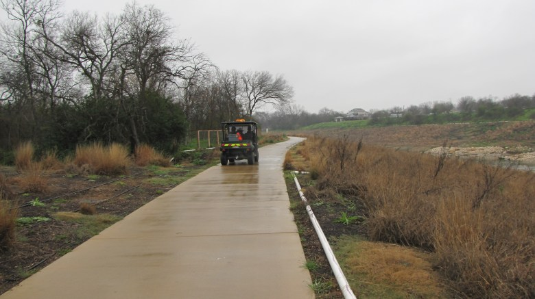 Riparian technicians patrolling the Mission Reach daily