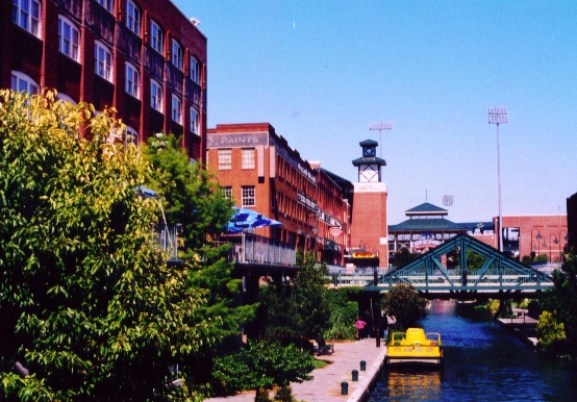 Retail and residential line the mile-long Bricktown Canal.