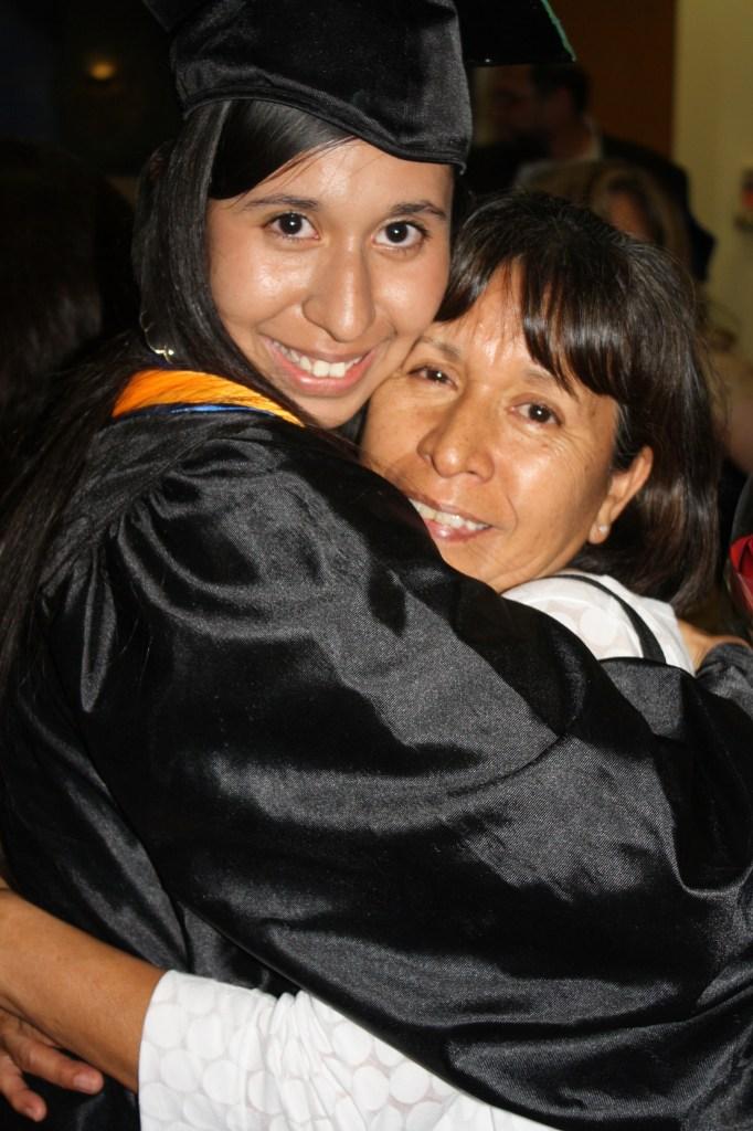 Carolina Canizles with her mom