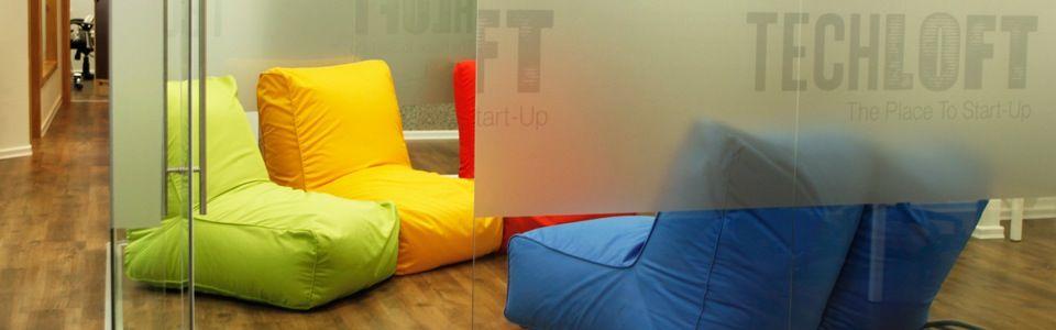 "The ""thinking room"" in Alan Weinkrantz's Tel Aviv co-working space."