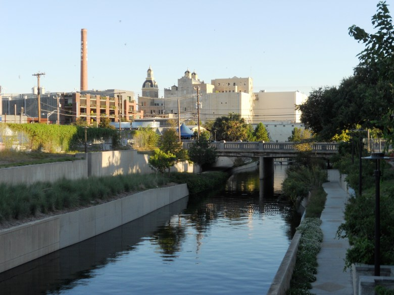 The Pearl Brewery complex, as seen from Midtown. Photo by Chrissy Breit.