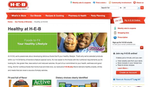 Healthy at H-E-B blog