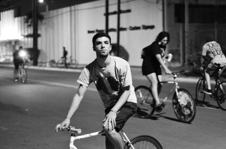 Night riders. No Helmets. Photo by David Rangel.