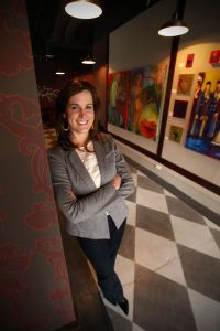 Brooke Harris, owner of Fresh Urban Flowers, located in Design Studio 106.
