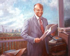 Painting of Earl Lewis.