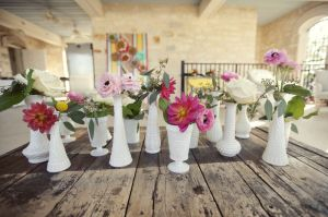Vases and flowers by Fresh Urban Flowers.