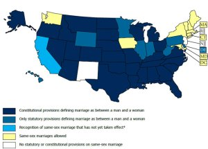 marriage and civil union laws by state