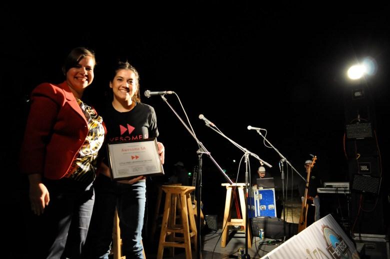 Meredith Ruiz (left) and Claudia Loya, Awesome SA Dean