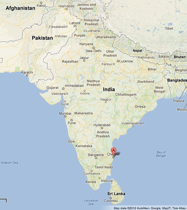 Map from Google.