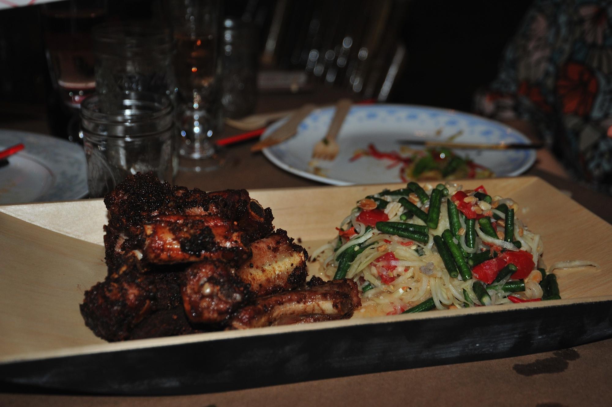 Pork ribs and octopus salad by Riff Raff Supper Club's Jennifer Dobbertin