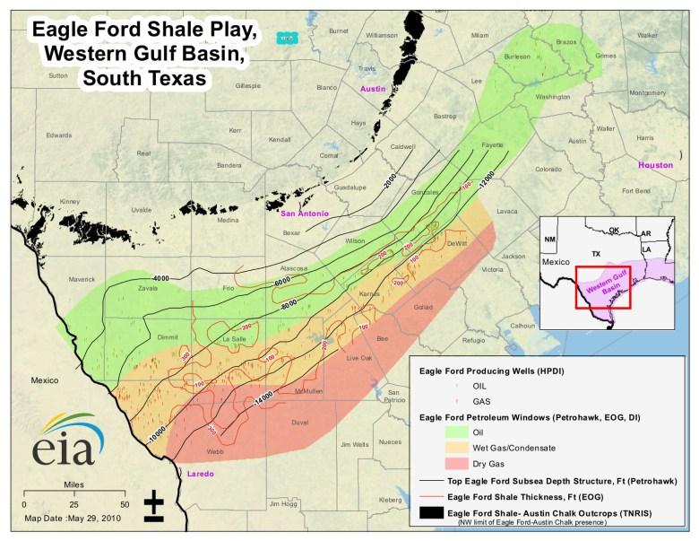 Eagle Ford Shale EIA MAP