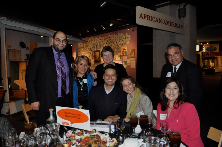 The Great Moments of Mariachi Music table at UTSA's Great Conversations! From left: _
