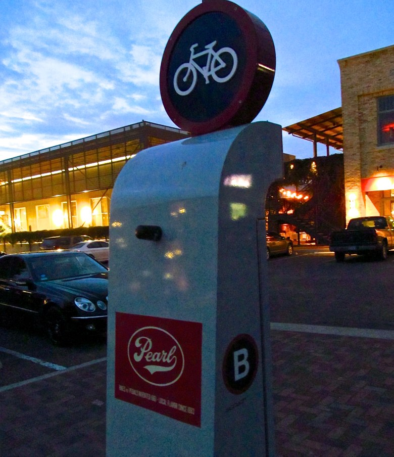 The Pearl's B Cycle station. Photo by Tom Trevino.