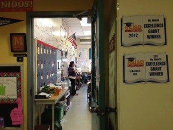 Christina Medrano's class. The best place in SA to become bi-lingual. Photo by Bekah McNeel.
