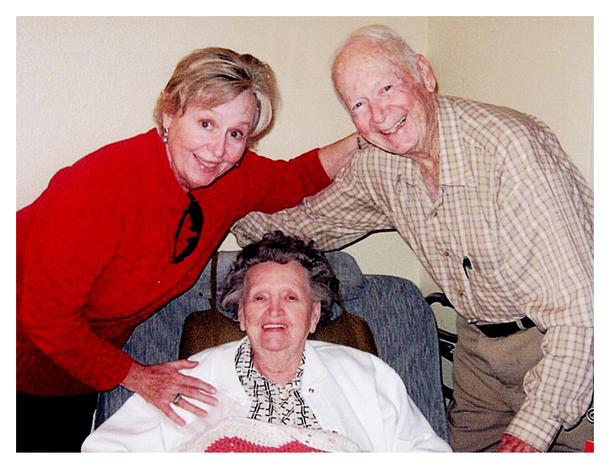 Jama Brown, a family caregiver in Uvalde, TX – with her parents. Photo courtesy of Morningside Ministries.