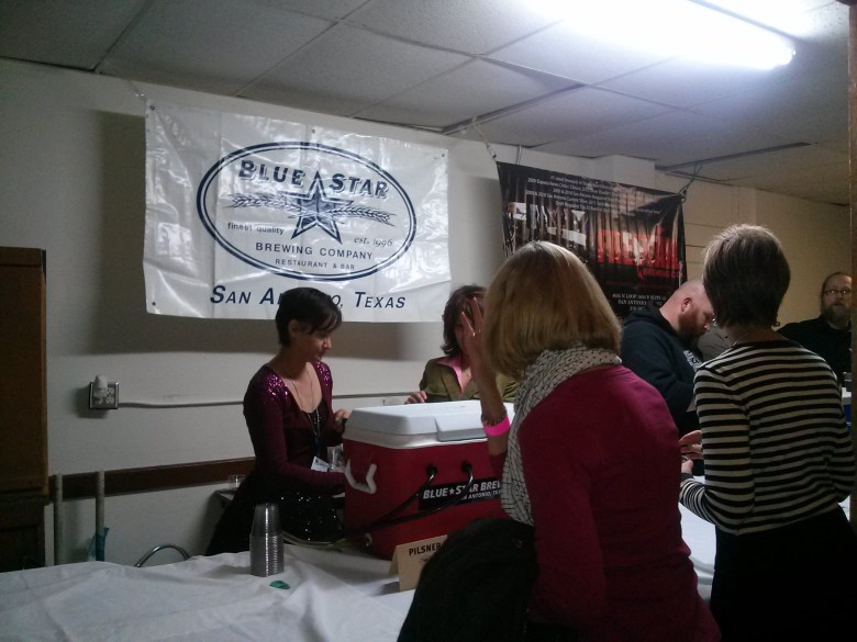 Blue Star Brewing Company and Freetail Brewing supplied beer enthusiasts with 4 ounce samples before and after the panel discussion.