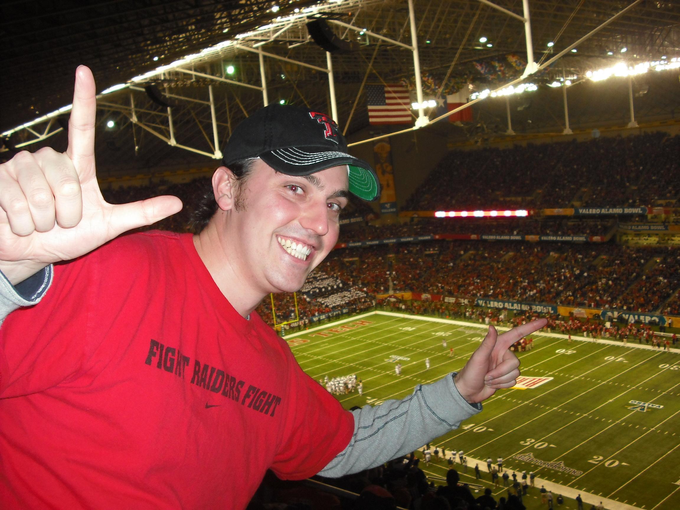 When Texas Tech played in the 2010 Alamo Bowl. Yes, I am a Red Raider. Photo courtesy of Garrett Heath.