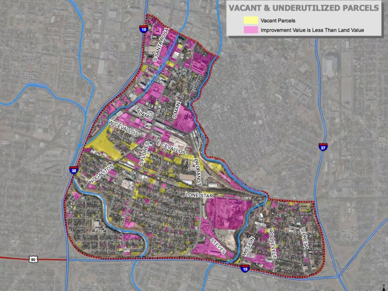 MAP- Lone Star vacant and underutilized property