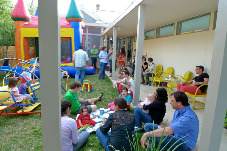 Southtown families celebrate the third birthday of William Hooper Abad, son of Julie Hooper Abad and Jennifer Abad. Photo courtesy Jennifer Abad