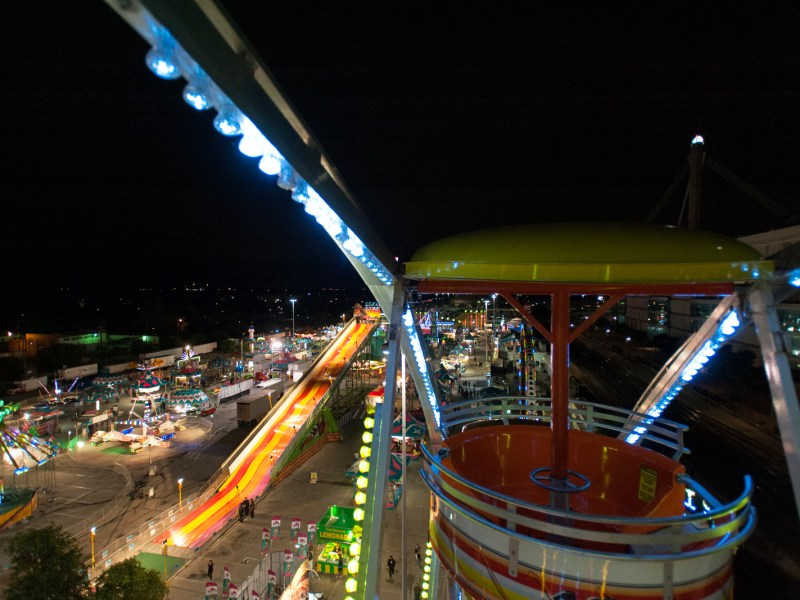 A view from the 2013 Fiesta Carnival Ferris wheel. Photo by Corey Leamon.