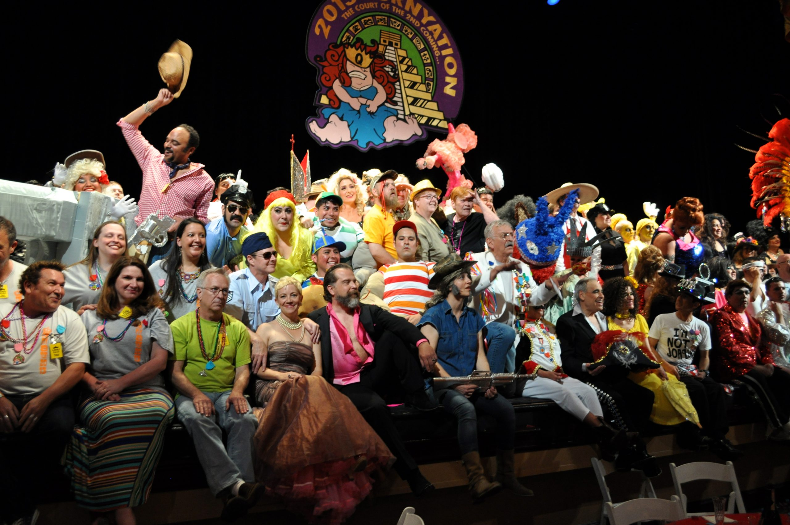 The 2013 Cornyation cast poses for a group photo after their first performance on Tuesday night. Photo by Iris Dimmick.