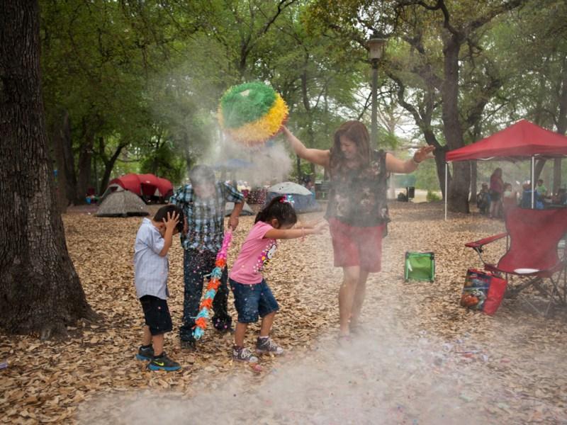 Families enjoy Brackenridge Park during Easter weekend 2013. Photo by Corey Leamon.