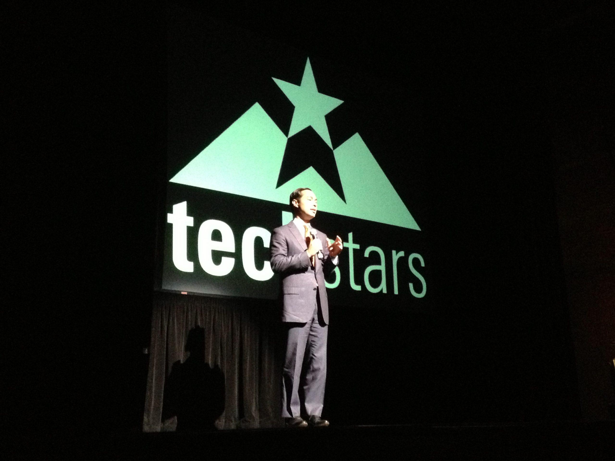 Mayor Julian Castro at TechStars Cloud Demo Day 2013.