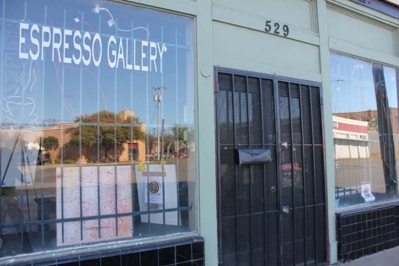 Espresso, at 529 San Pedro, beckons passersby to come in and take a look. Photo by Melanie Robinson.