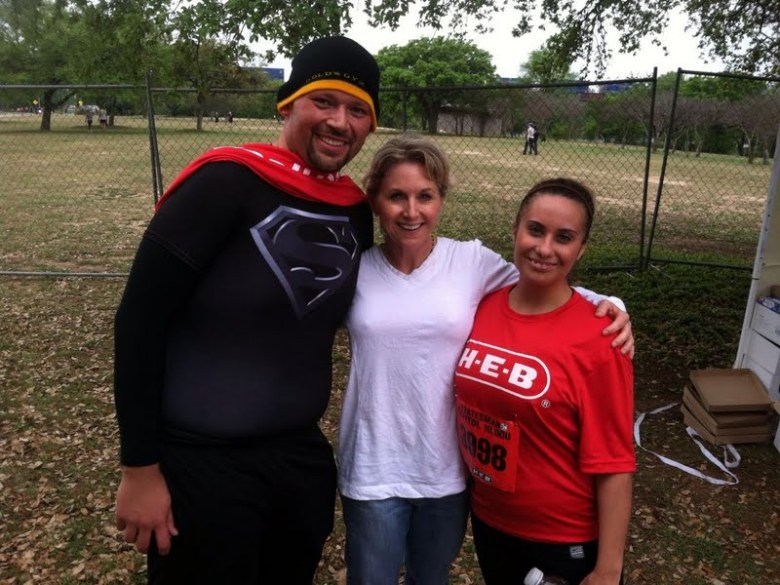 Ruben Cavazos, Suzanne Parker, and Melanie Cryer in Austin for the Capitol 10K. Photo courtesy of Suzanne Parker.