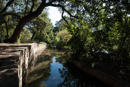 Acequia at Mission Espada, San Antonio. Photo by Christopher Talbot