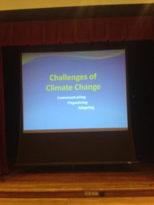 Communicating, organizing, adapting. The start of Riley's presentation at the Witte Museum meeting room. Photo by Bill Hurley.