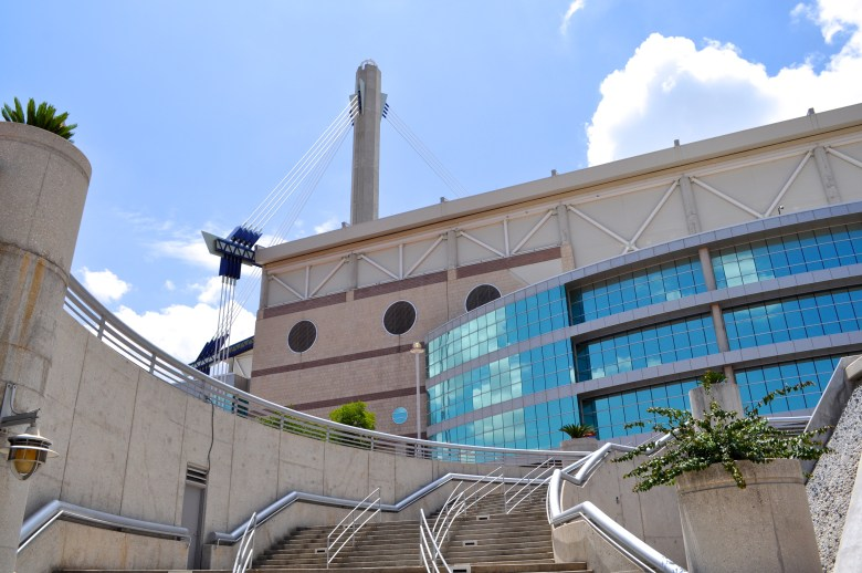The Alamodome, a view from the Market Street underpass. Photo by Iris Dimmick.
