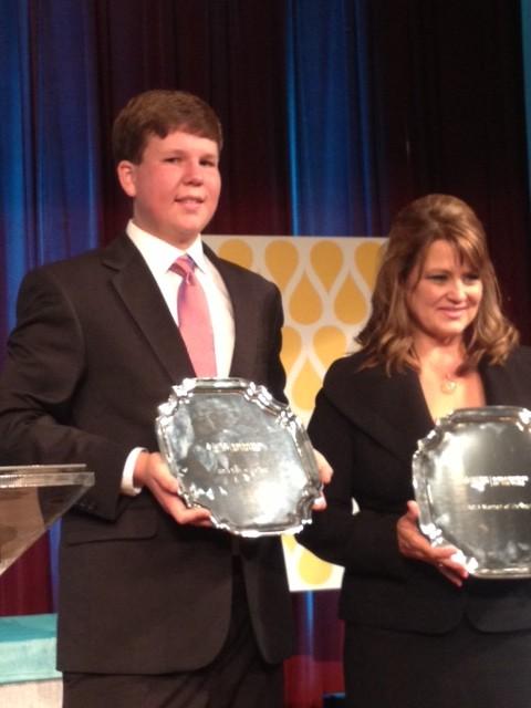 Daniel Edelen, LLS Man of the Year, and Tina Kahlig, LLS's Woman of the Year. Tina broke a San Antonio record by raising $150,000. Photo courtesy of Craig Jenkins.