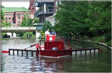 Lady Eco, only part of the equation to a cleaner, healthier river. Photo courtesy of the City of San Antonio.