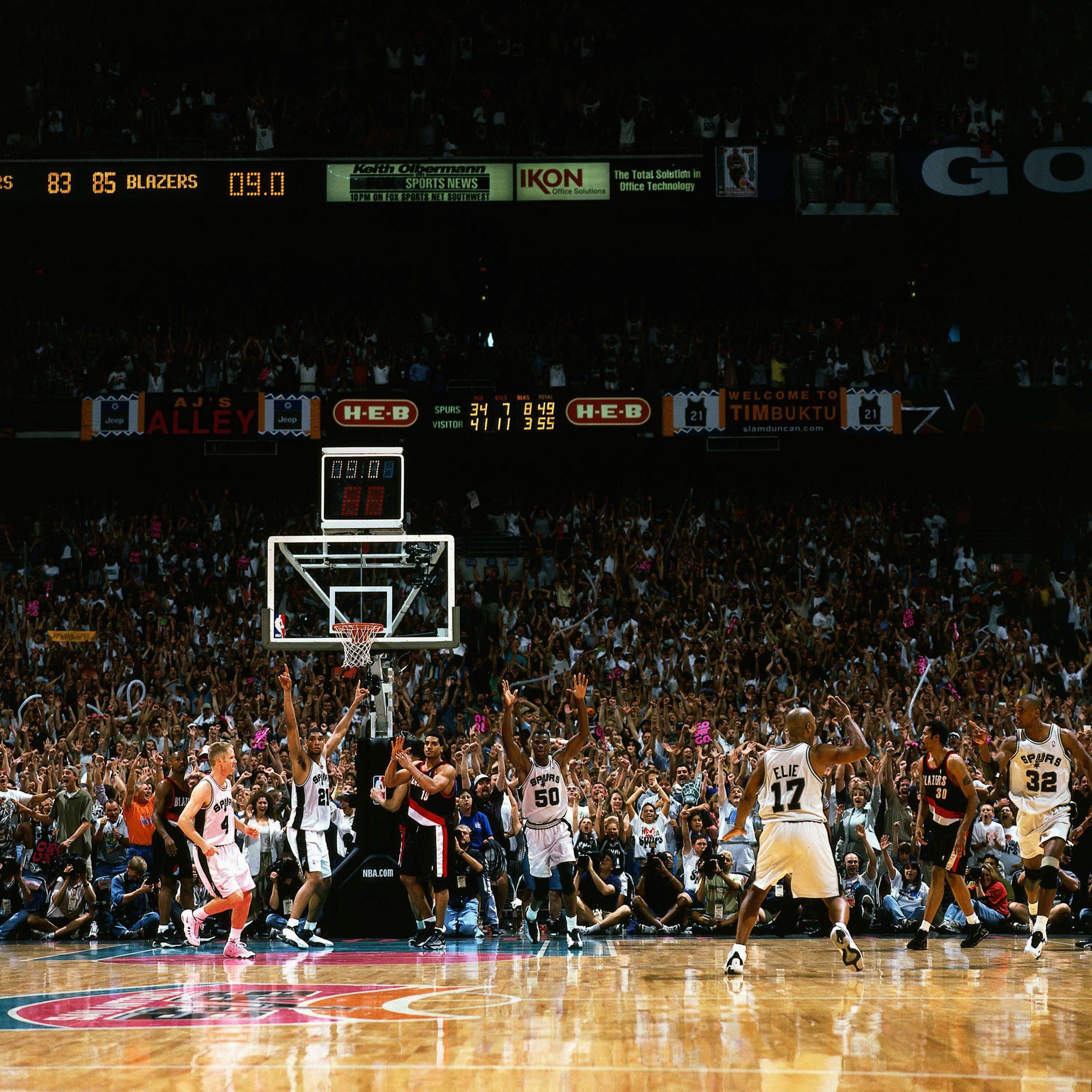 Spurs vs the Portland Trail Blazers at the Alamodome circa 1999. Photo courtesy San Antonio Spurs.
