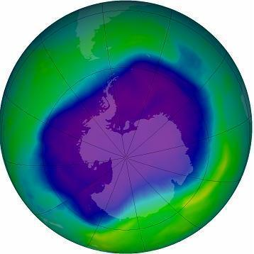 Source: NASA's Ozone Hole Watch Web Site, Sept. 24, 2006.