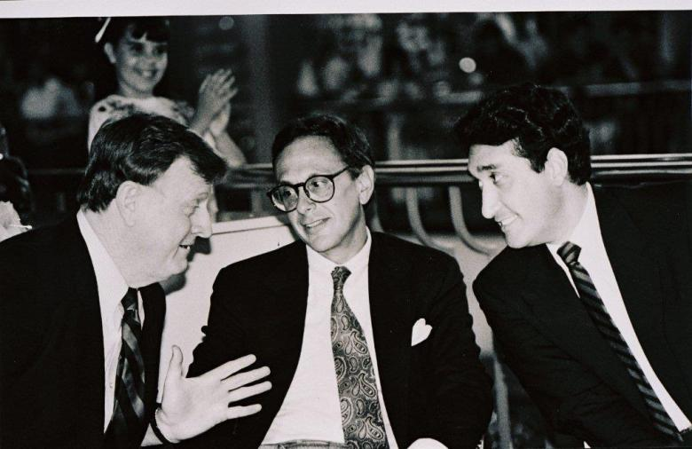 Red McCombs, former Spurs coach Larry Brown and former San Antonio Mayor Henry Cisneros. Photo courtesy of red McCombs