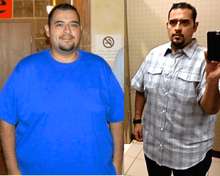 Ramirez went from size 4XL clothing to size 2XL clothing and is on his way to single digits soon.