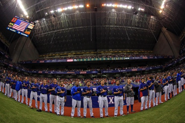 Texas Rangers play  the San Diego Padres in 2013. Photo courtesy of the City of San Antonio.