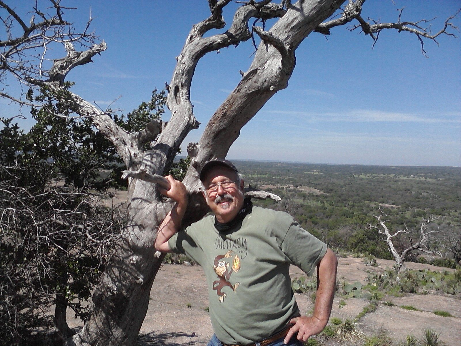 """Don Mathis at the Rock. """"The age of the climber is porportional to the apparent height of the dome."""" Photos courtesy of Don Mathis."""