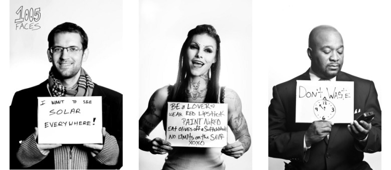 Three of 525 faces so far in the 1005 Faces project. Photos by Sarah Brooke Lyons.