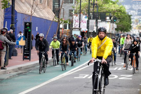 Bike to Work Day in San Francisco. Photo courtesy of San Francisco Bicycle Coalition.