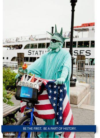 A familiar Citi Bike advocate for New York's new bike share program. Photo courtesy of Citi Bike.