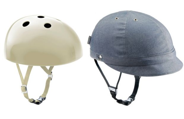 "A sleek, modern helmet with optional denim cover from Denmark-based company Yakkay. ""Brainwear for smart people."""