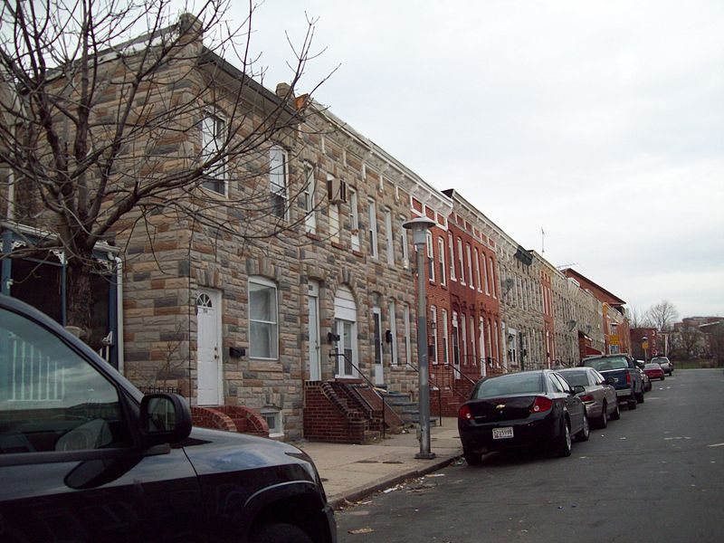 Pigtown Historic District in Baltimore, Md. Public domain photo.